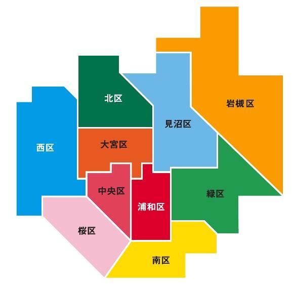 さいたま市マップ